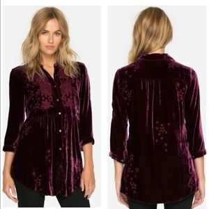 NEW Johnny Was Roberta Embroidered Tunic Shirt 2X